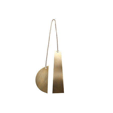 Ferm Living Halvmåne ornament t/ophæng, messing
