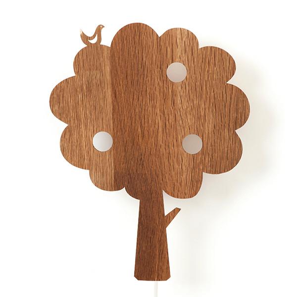 Ferm Living Tree Lampe, Røget eg