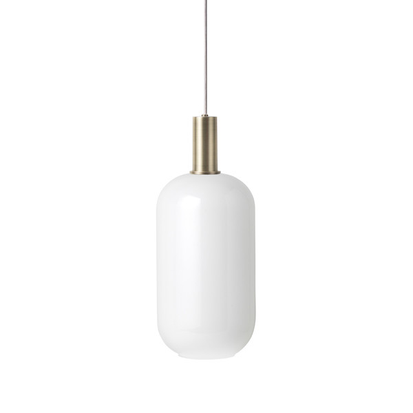 Ferm Living Opal Shade Tall, hvidt glas