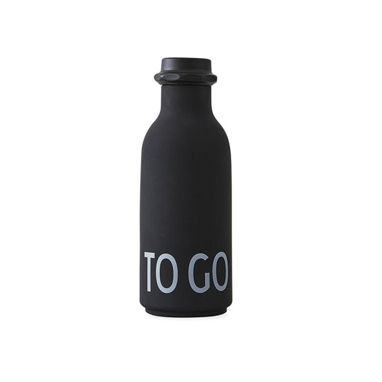 Design Letters To Go Vandflaske, Black