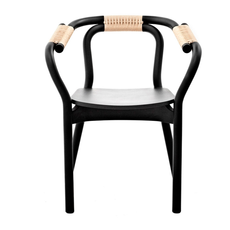 Normann Copenhagen Knot Chair, Sort/Natur