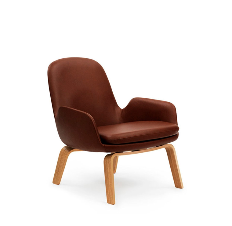Normann Copenhagen Era Lounge Chair Low, Eg og læder