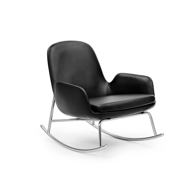 Normann Copenhagen Era Rocking Chair Low, Læder