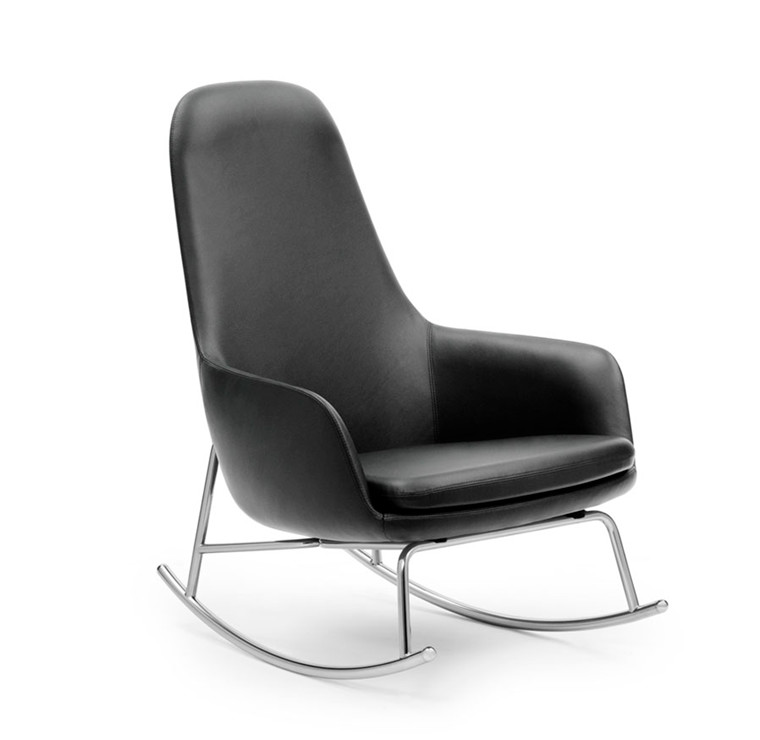 Normann Copenhagen Era Rocking Chair High, Læder
