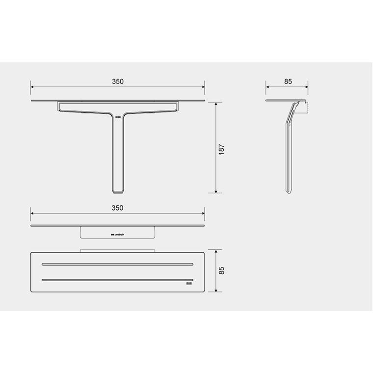 Unidrain Reframe sæbehylde inkl. bruseskraber, blank stål
