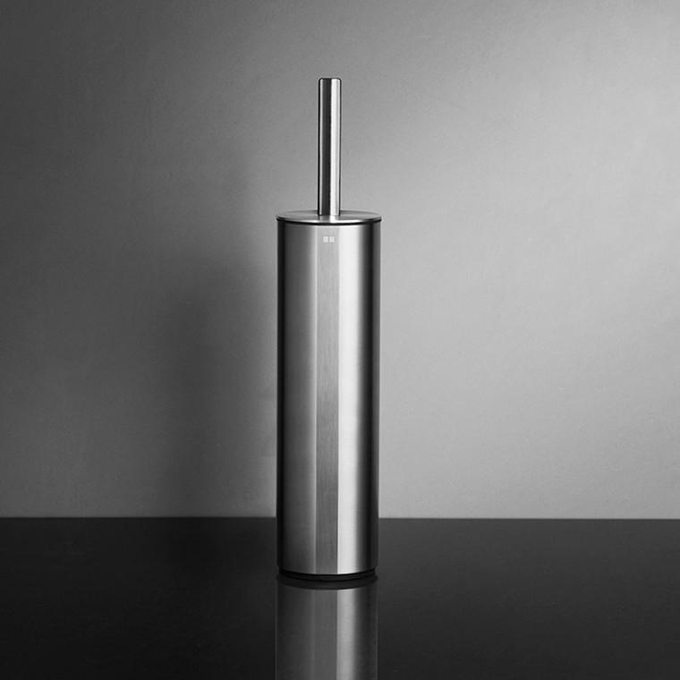 Unidrain Reframe toiletbørste t/gulv, børstet stål