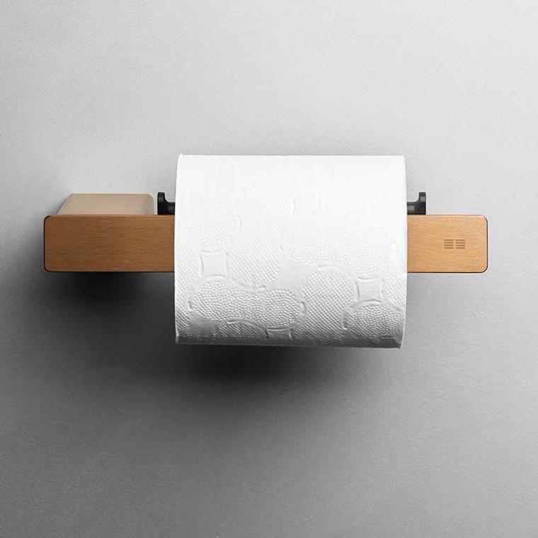 Unidrain Reframe toiletrulleholder, kobber