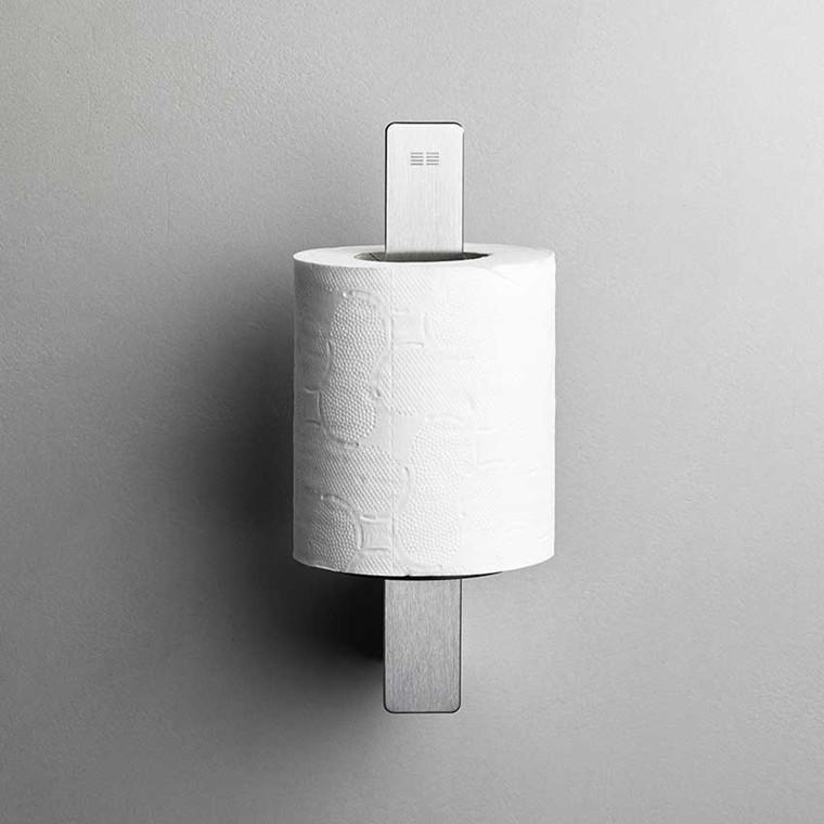Unidrain Reframe toiletrulleholder t/reserve, børstet stål