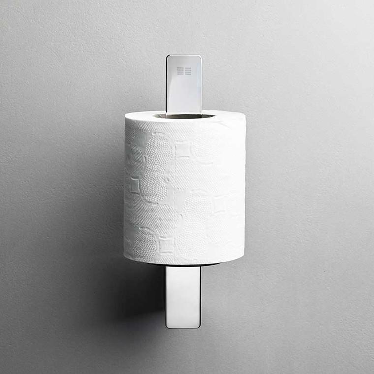 Unidrain Reframe toiletrulleholder t/reserve, blankt stål