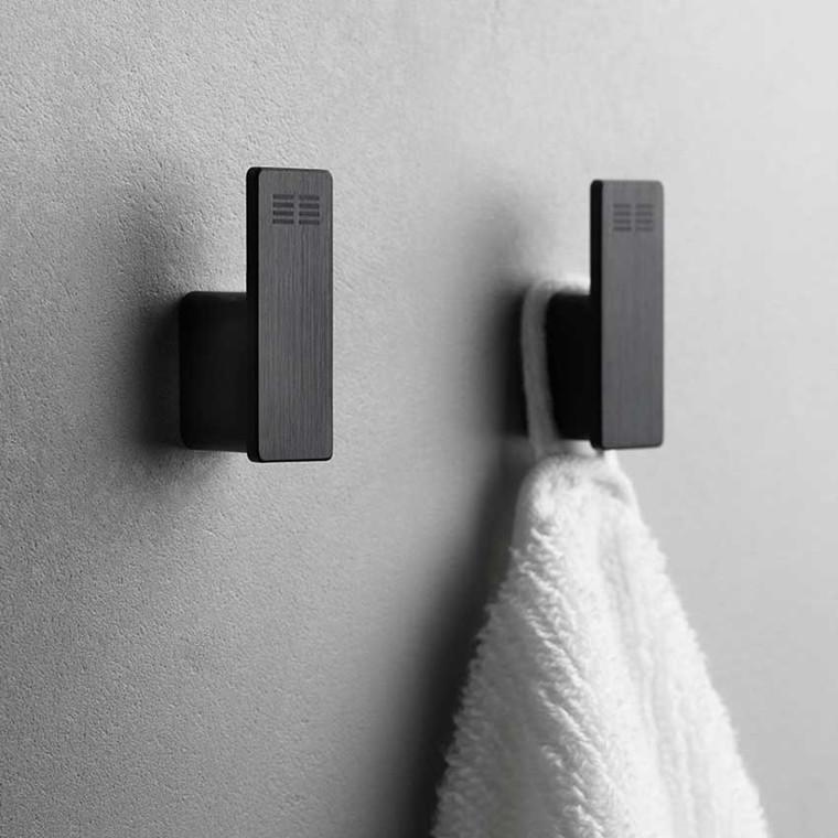Unidrain Reframe håndklædekroge 2 stk., sort