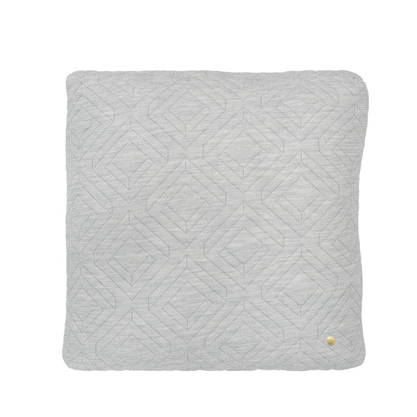 Ferm Living Quilt Pude 45x45 cm, Lysegrå