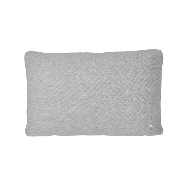 Ferm Living Quilt Pude 60x40 cm, Lysegrå