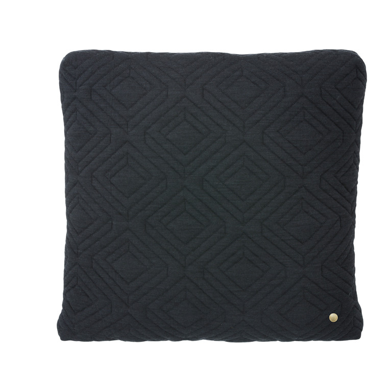 Ferm Living Quilt Pude 45x45 cm, Mørkegrå