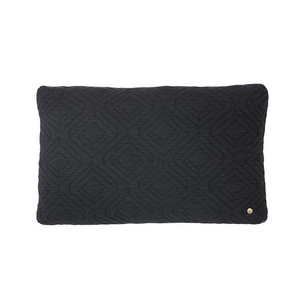 Ferm Living Quilt Pude 60x40 cm, Mørkegrå