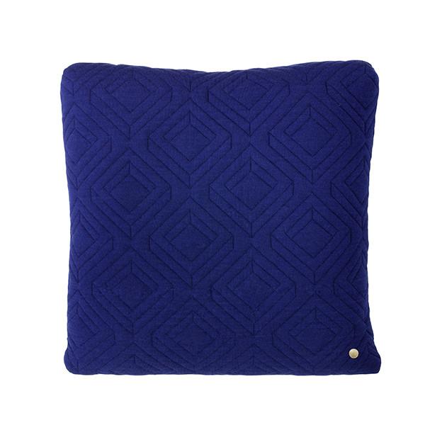 Ferm Living Quilt Pude 45x45 cm, Mørkeblå