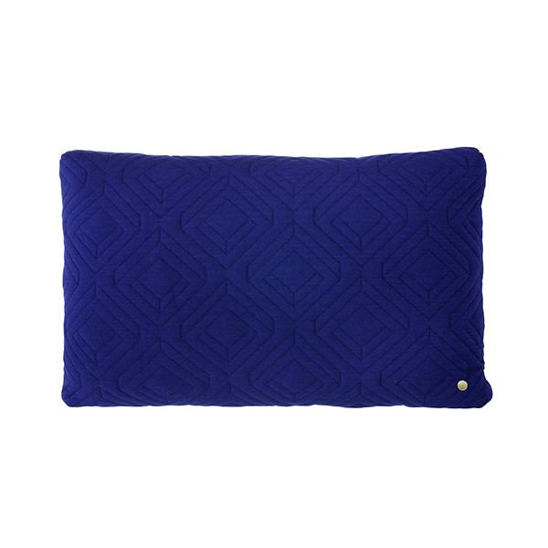 Ferm Living Quilt Pude 60x40 cm, Mørkeblå