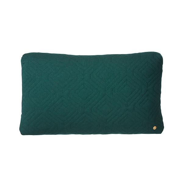 Ferm Living Quilt Pude 60x40 cm, Mørkegrøn