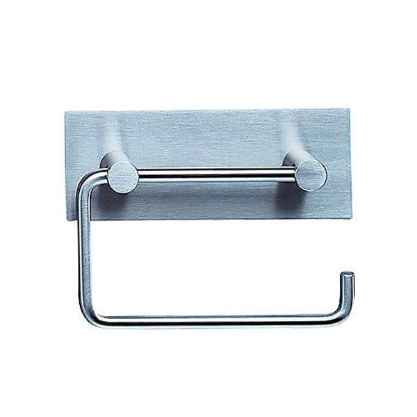 Vola T12 Toiletpapirholder med bagplade i rustfri stål
