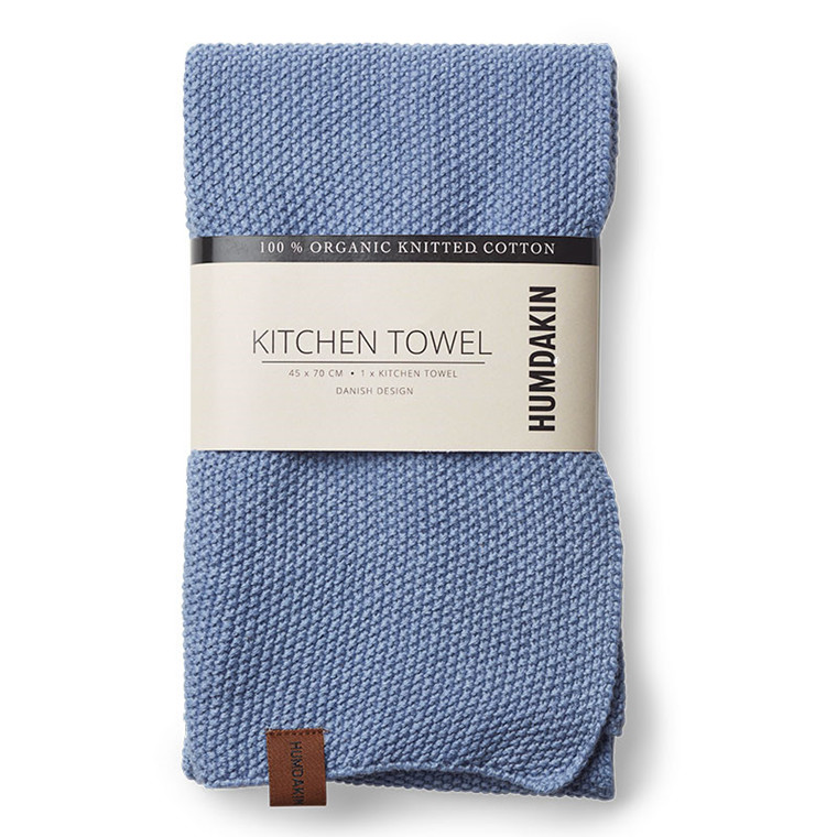 Humdakin Knitted Kitchen tea towel, Viskestykke m/ 2 stk. Lyseblå