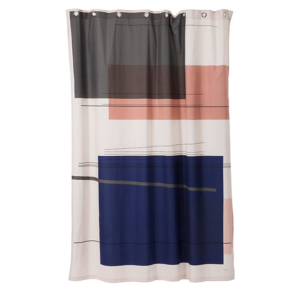Ferm Living Color Block Shower Curtain, Badeforhæng