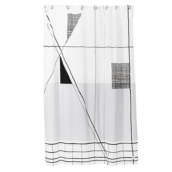 Ferm Living Trace Shower Curtain, Badeforhæng