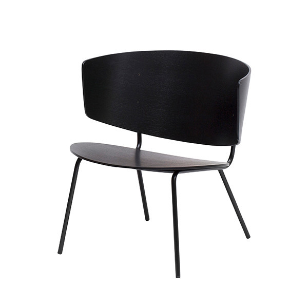 Ferm Living Herman Lounge Chair i sort