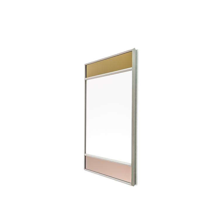Magis Wall Mirror Vitrail 6, spejl i guld/rosa - 50x50 cm