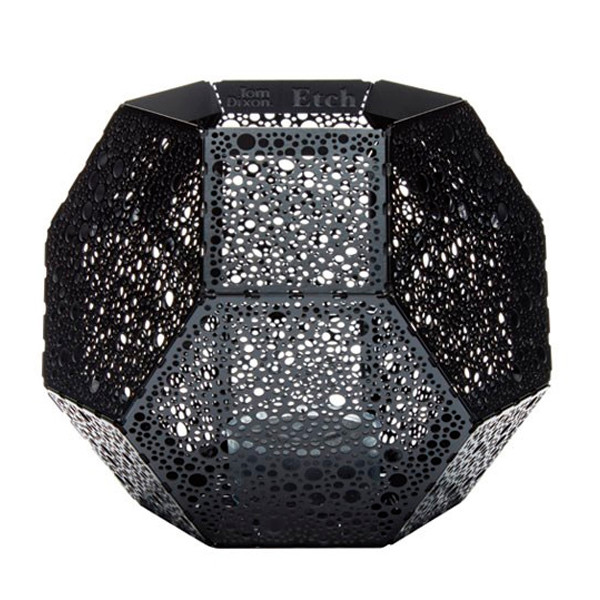Tom Dixon Etch Tea Light Holder, fyrfadsholder i sort