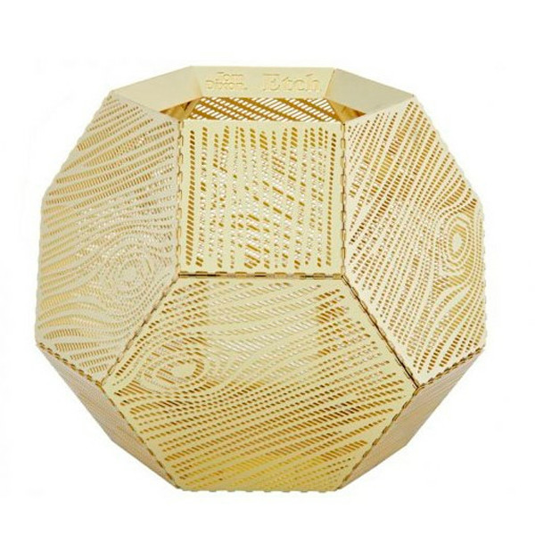 Tom Dixon Etch Tea Wood Light Holder, fyrfadsholder i messing