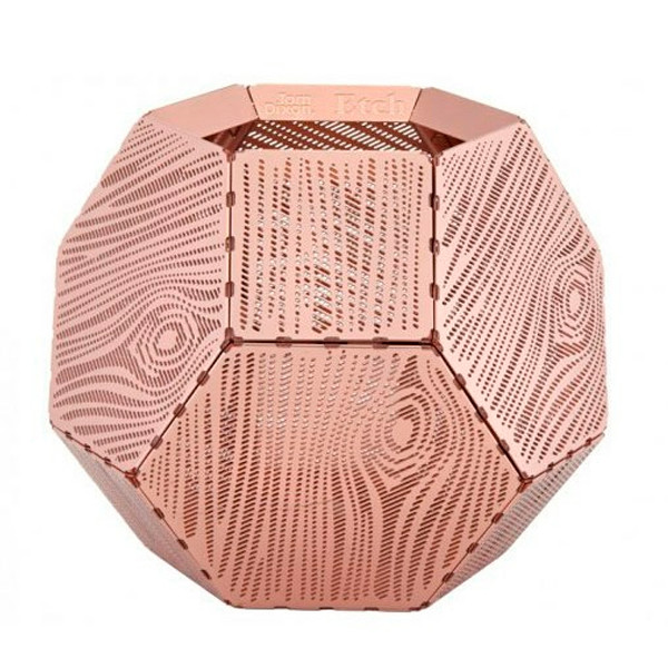 Tom Dixon Etch Tea Wood Light Holder, fyrfadsholder i kobber