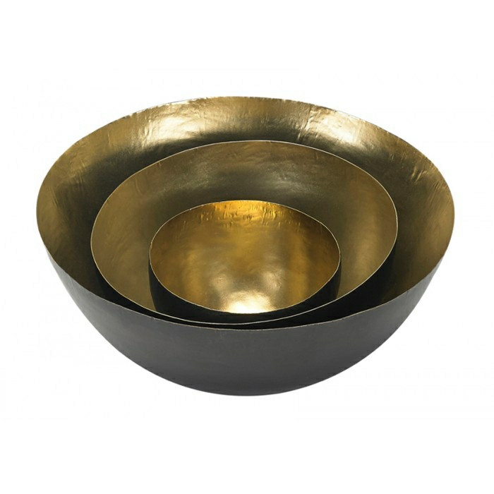 Tom Dixon Form Bowl Set, messing skålesæt