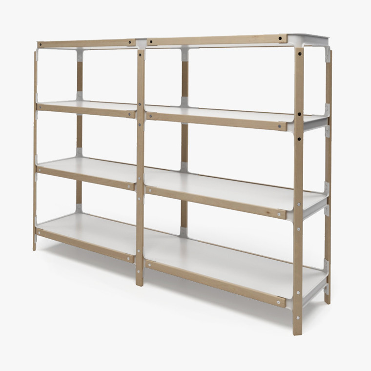 Magis Steelwood Shelving System reolsystem, 2x3 modul