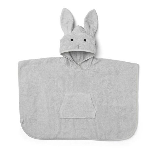 Liewood Orla Poncho Rabbit håndklæde, Dumbo Grey
