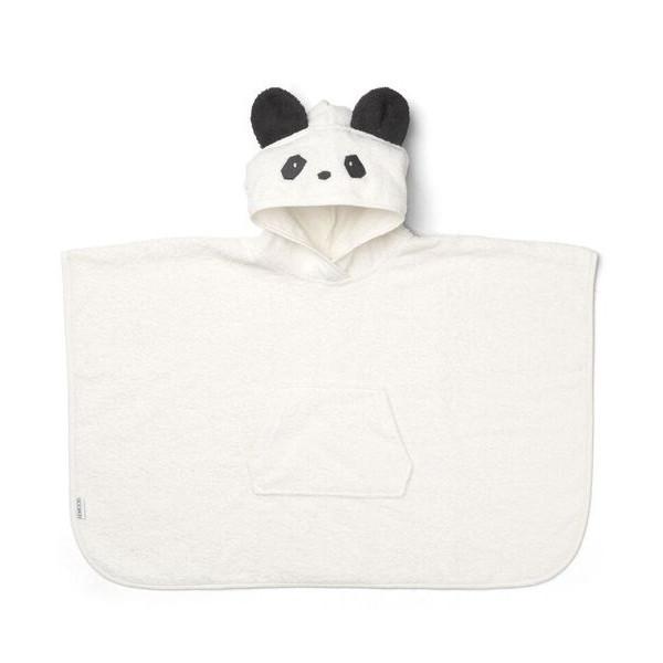 Liewood Orla Poncho Panda håndklæde, Creme de la creme
