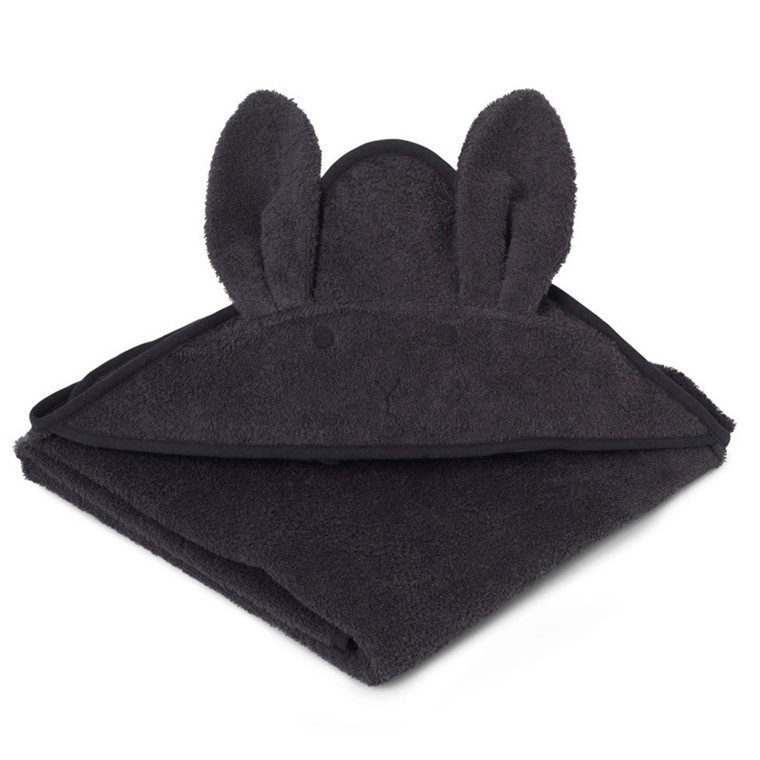 Liewood Augusta Rabbit håndklæde, Dark Grey