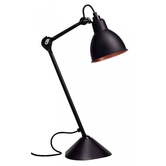 Lampe Gras N 205 bordlampe, sort/kobber