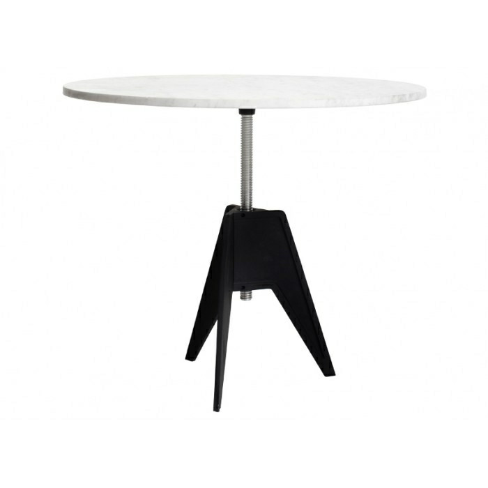 Tom Dixon Screw Table, Marmor bordplade Ø 90 cm.