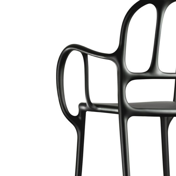 Magis Mila Chair i Sort, 1 stk.