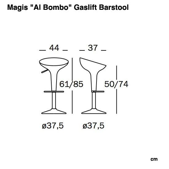 Magis Aluminium Bombo Stool barstol