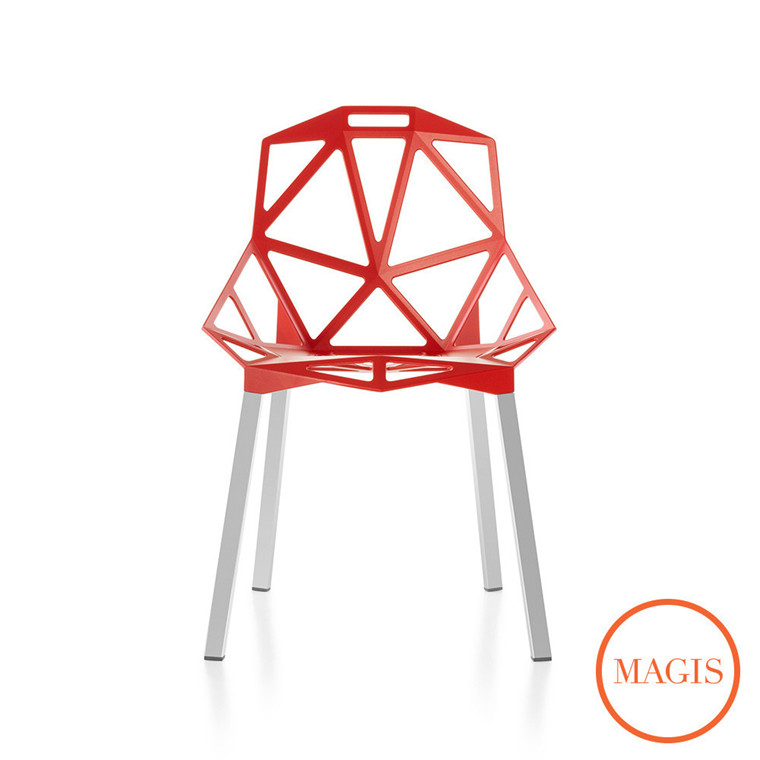 Magis Chair One stol, med aluminiums ben