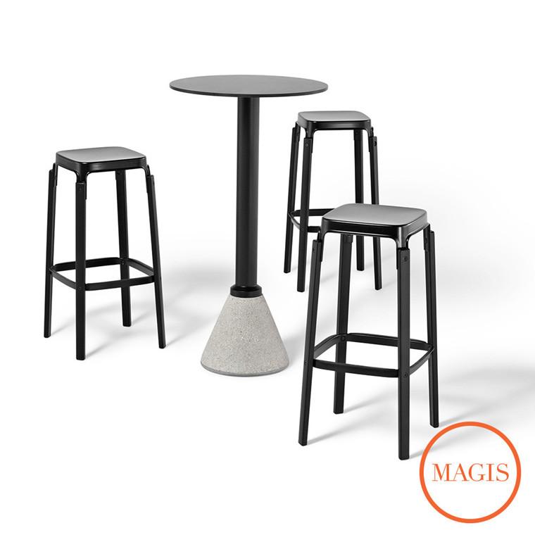 Magis Steelwood Stool barstol, høj