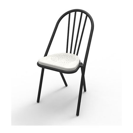 Surpil SL10 stol, hvidmalet træsæde