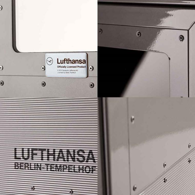 Bordbar Lufthansa JU-52 Trolley vogn, new