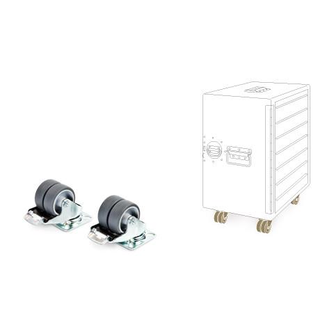 Bordbar 2 x hjul m/ bremse t/ Box skab