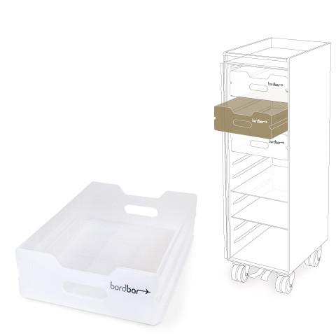 Bordbar skuffe i semitransparent plast