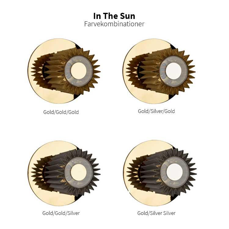 """DCW """"In The Sun"""" 270 lampe m/skærm t/væg og loft, gold"""