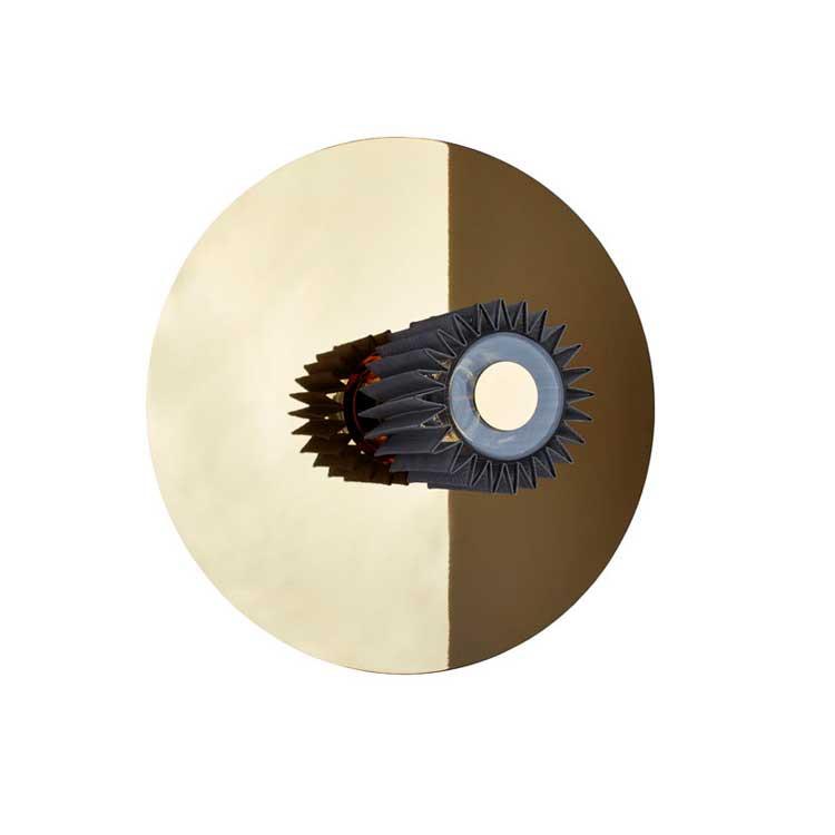 """DCW """"In The Sun"""" 380 lampe m/skærm t/væg og loft, gold"""