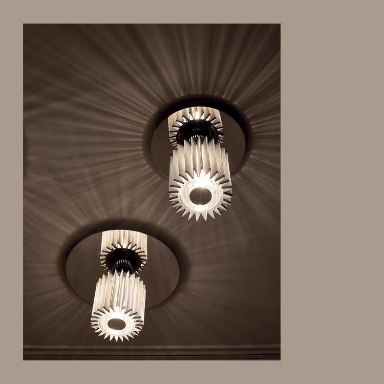 """DCW """"In The Sun"""" 380 lampe m/skærm t/væg og loft, silver"""