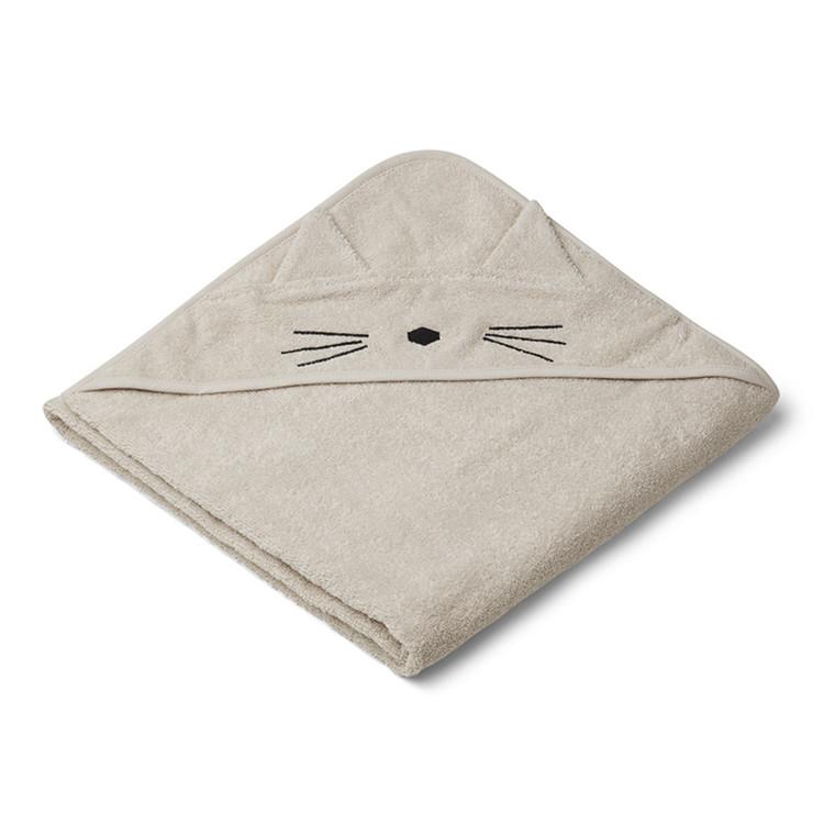 Liewood Augusta Cat håndklæde, sandy