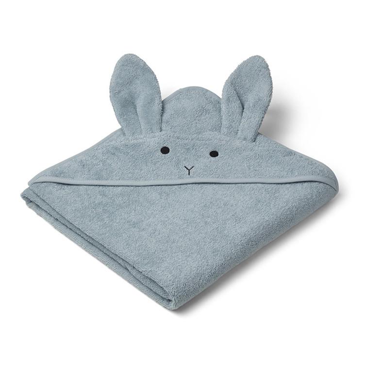 Liewood  Augusta Rabbit håndklæde, sea blue